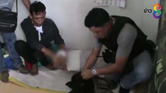 ตำรวจชลบุรี จู่โจมจับเครือข่ายค้ายาบ้า ได้ผู้ต้องหา 2 คน พร้อมอาวุธปืน