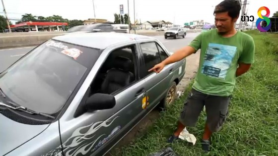 เร่งล่าคนร้ายทุบรถ ลักพระเครื่อง เจ้าของสุดงง ป้ายพ.ร.บ.ยังเอาไป