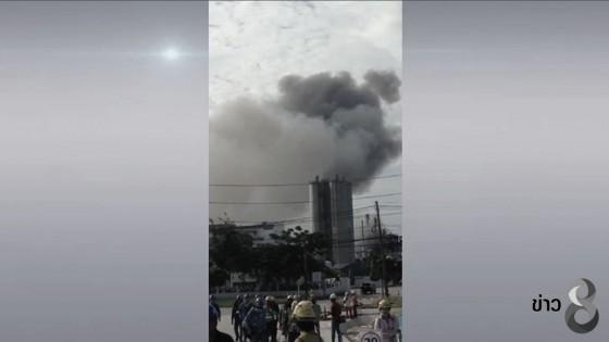 ไฟไหม้ท่อโรงงานผลิตภัณฑ์ซิลิโคนส์โมโนเมอร์