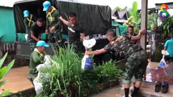 น้ำโขงที่หนองคายเข้าสู่ภาวะวิกฤติ  ทหารต้องช่วยชาวบ้านขนของหนีน้ำ