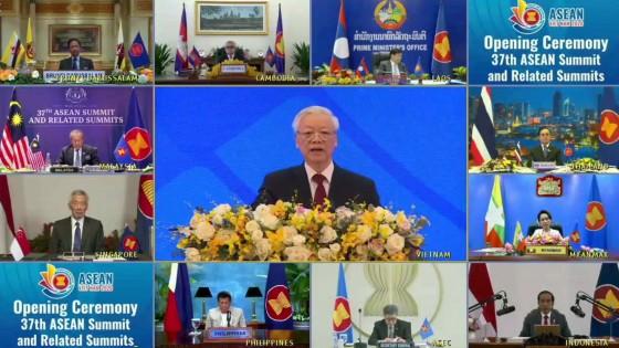 นายกฯ ร่วมพิธีเปิดการประชุมสุดยอดอาเซียน ครั้งที่ 37 ผลักดันร่วมฟื้นฟูเศรษฐกิจ