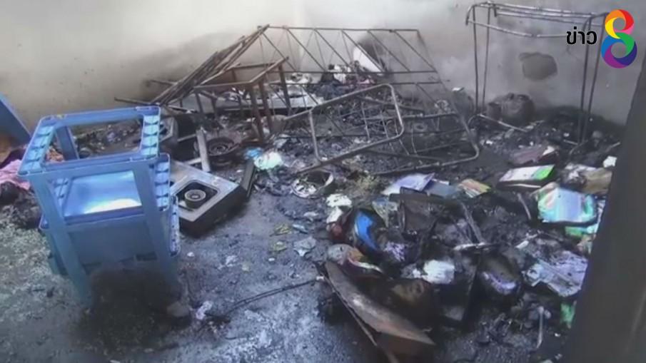 แก๊สระเบิดลามเผาไหม้บ้านบาดเจ็บ 3 คน
