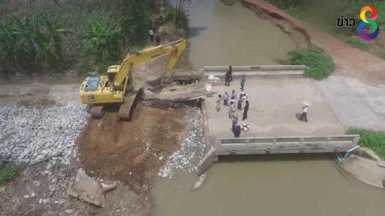 อบจ.สุโขทัย เร่งซ่อมสะพานพังช่วยชาวบ้าน คาดใช้เวลา 2 วัน