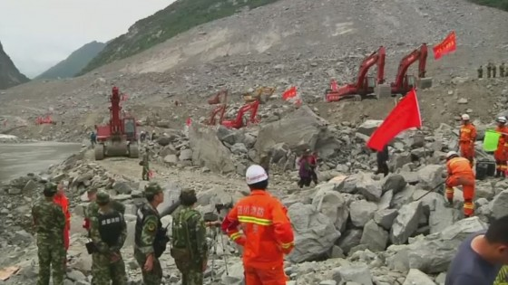 กู้ภัยจีนค้นหาผู้รอดชีวิตแผ่นดินถล่มทับหมู่บ้านในมณฑลเสฉวน -สูญหาย...