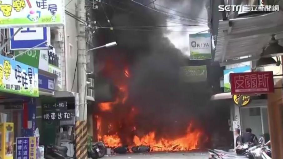 แก๊สระเบิดร้านอาหารไต้หวัน-ตาย1เจ็บ14