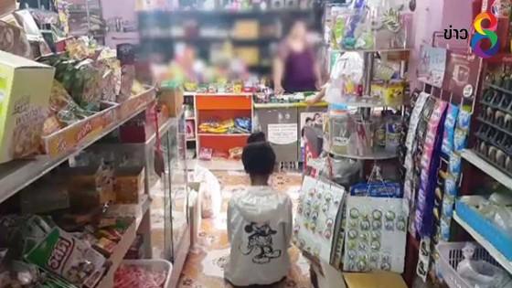 เปิดวงจรปิด!! สาวบุกร้านโชว์ห่วยย่องขโมยเงินโดนจับตัวทันควัน
