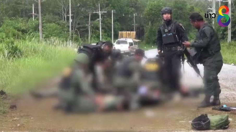 โจรใต้ล่อตำรวจ-ทหารยะลา ยิง-กดระเบิดใส่ตาย 2 เจ็บอีกเพียบ