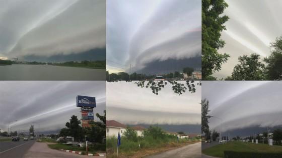 """เช้าวันนี้ พบ """"เมฆประหลาด"""" ในหลายพื้นที่ใน จ.นครราชสีมา"""