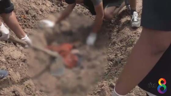 รองเจ้าอาวาสใช้ขวานฆ่าโหดหนุ่มใหญ่ฝังดินโปกปูนทับในวัด...