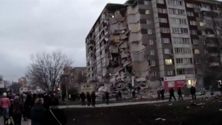 อพาร์ทเม้นท์ 9 ชั้นรัสเซียพังถล่ม - มีผู้เสียชีวิต 3 คน
