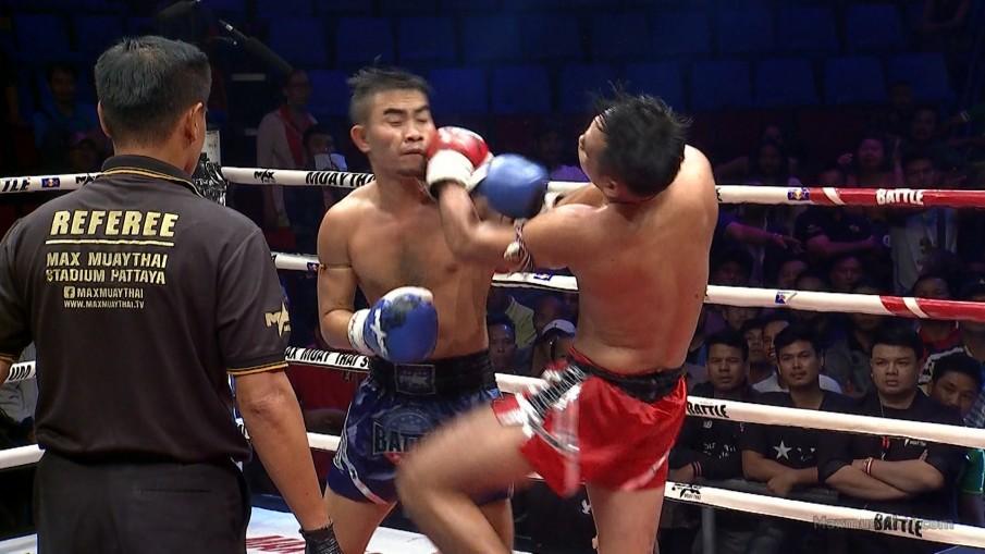 """""""กล้าขุนศึก"""" คว้าชัยคู่เอกมวยไทย Battle"""