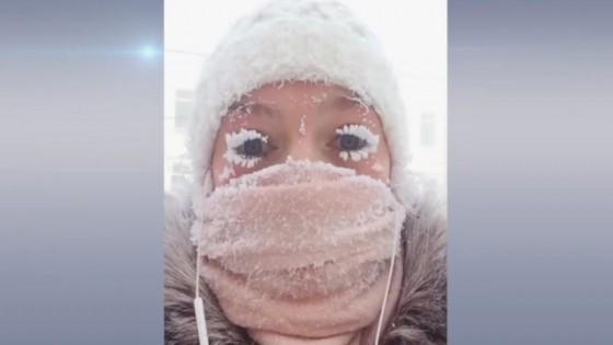หนาวสุดขั้ว ขนตากลายเป็นแข็ง