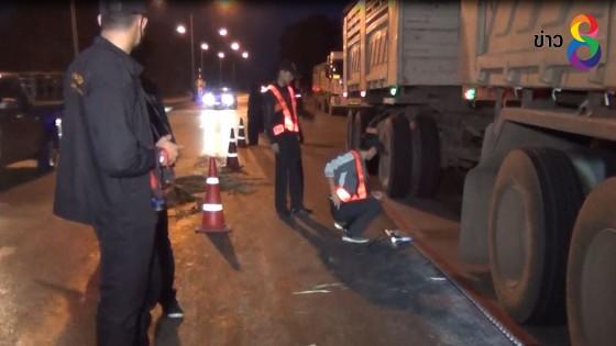 เฉพาะกิจกรมทางหลวงจับรถพ่วงบรรทุกหินน้ำหนักเกิน ทำถนนพังเสียหาย