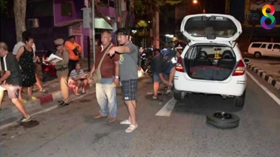 หนุ่มสำเพ็งดวงซวย เจอลูกหลงวัยรุ่นไล่ยิงกันกลางถนน