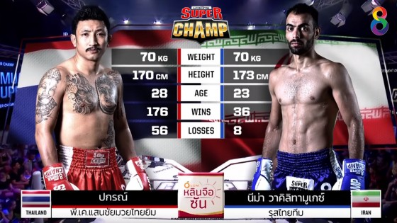 "ดูย้อนหลัง ""ช่อง8 มวยไทย Super Champ"" เต็มรายการ ..."