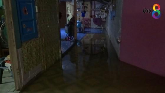 ฝนถล่มตัวเมืองราชบุรีกว่า  3 ชั่วโมง น้ำเอ่อเข้าท่วมในหลายพื้นที่