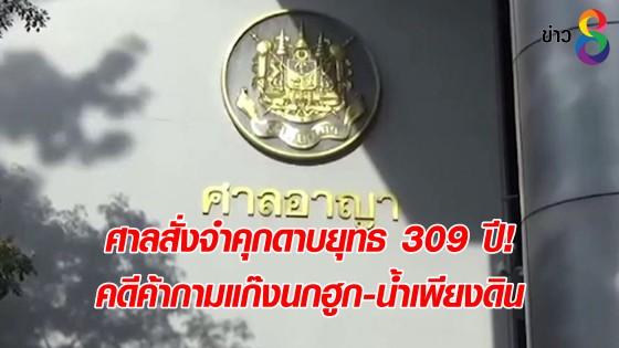 ศาลสั่งจำคุกดาบยุทธ 309 ปี! คดีค้ากามแก๊งนกฮูก-น้ำเพียงดิน