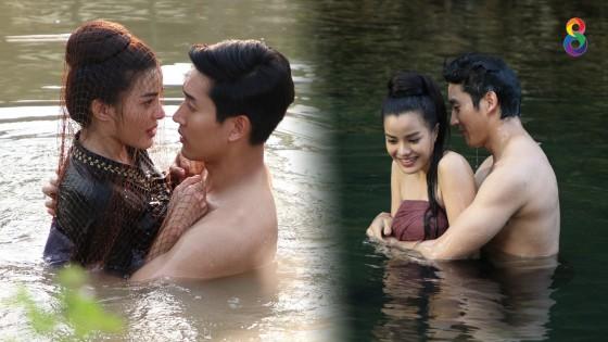 """""""ไนกี้ – จูน"""" ฟินไม่ออก  จูบสะดุด...โดนปลาตอด"""