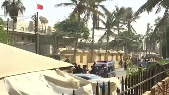 มือระเบิด 3 คน บุกโจมตีสถานกงสุลจีนในนครการาจี