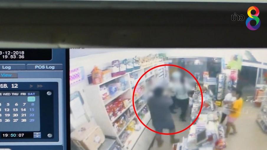 สามีหึงโหดบุกยิงภรรยาเสียชีวิตในร้านสะดวกซื้อในจังหวัดสุโขทัย
