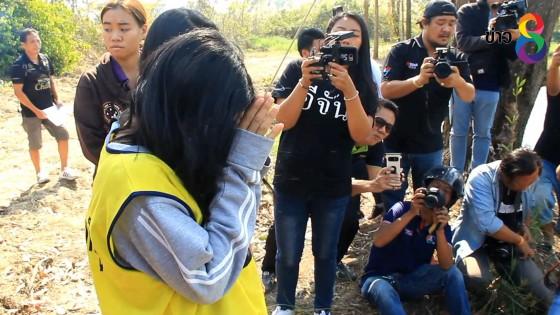 ทำแผนแม่ใจโหดฆ่าลูกสาววัยเพียงขวบเศษที่จันทบุรี...