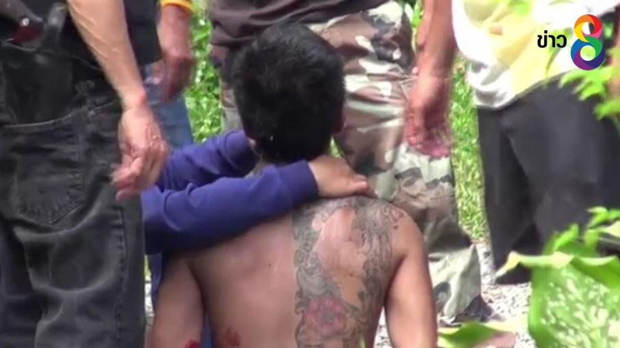 จับแล้วหนุ่มเมายาเสพติด คลุ้มคลั่งลากปืนลูกซองยิงชาวบ้านพัทลุงเจ็บ
