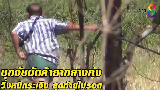 บุกจับนักค้ายากลางทุ่ง วิ่งหนีกระเจิง สุดท้ายไม่รอด