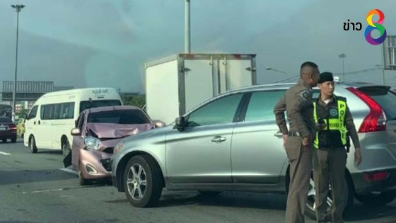 คนขับเก๋งคลุ้มคลั่งขับย้อนศรมอเตอร์เวย์โดน 6 ข้อหา