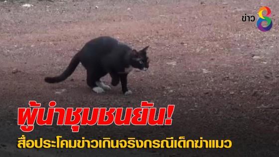 ผู้นำชุมชนยันสื่อประโคมข่าวเกินจริงกรณีเด็กฆ่าแมว...