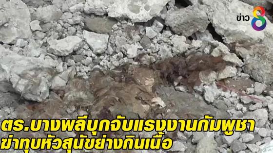 ตร.บางพลี บุกจับแรงงานกัมพูชาฆ่าทุบหัวสุนัขย่างกินเนื้อ