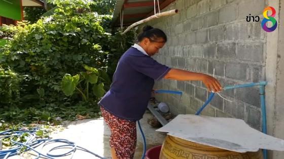 ชาวหนองบัวร้อง น้ำประปาหมู่บ้านไหลไม่เป็นเวลา ต้องออกมารองน้ำไว้ใช้กลางดึก
