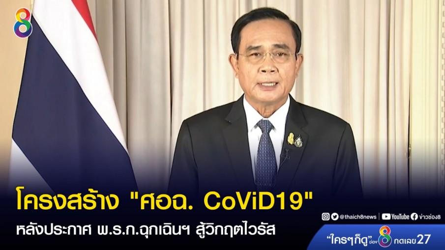 """โครงสร้าง """"ศอฉ. CoViD19"""" หลังประกาศ พ.ร.ก.ฉุกเฉินฯ สู้วิกฤตไวรัส"""