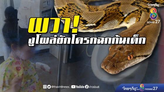 สยอง! งูโผล่โถส้วมกัดเด็ก 4 ขวบ...