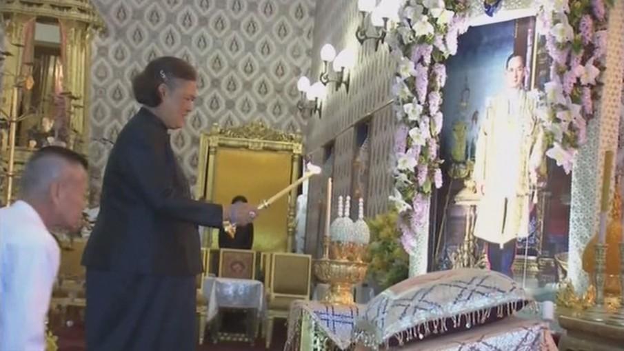 สมเด็จพระเทพฯ เสด็จฯ บำเพ็ญพระราชกุศลสวดพระอภิธรรมพระบรมศพ