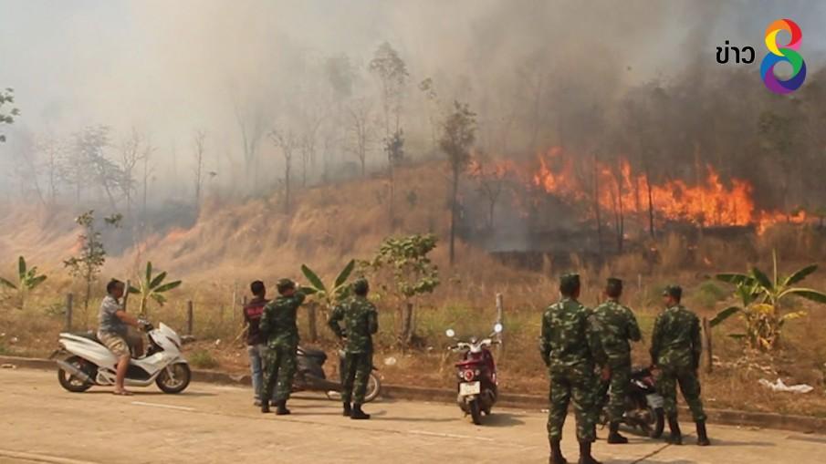 หวิดวอดวัดและบ้านปชช.หลังไฟป่าโหมหนัก
